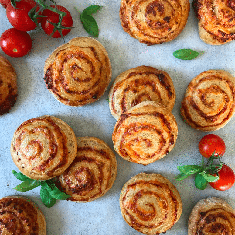 pizzasnegle fuldkorn tomat ost inspiration madpakke