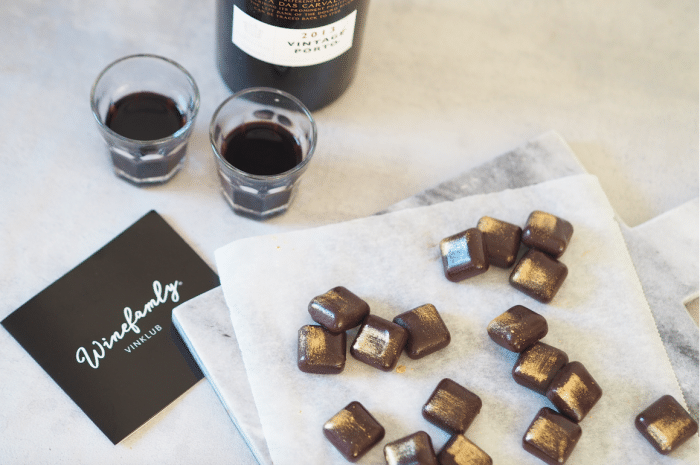 chokoladekarameller med portvin winefamly