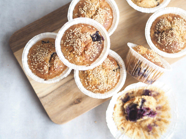 blåbærmuffins blåbær muffins hvid hvedemel