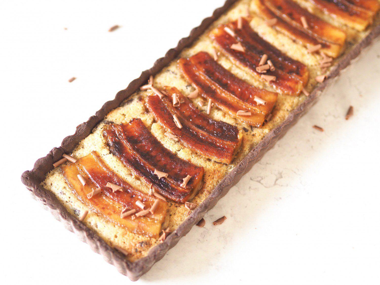 banantærte chokoladetærte