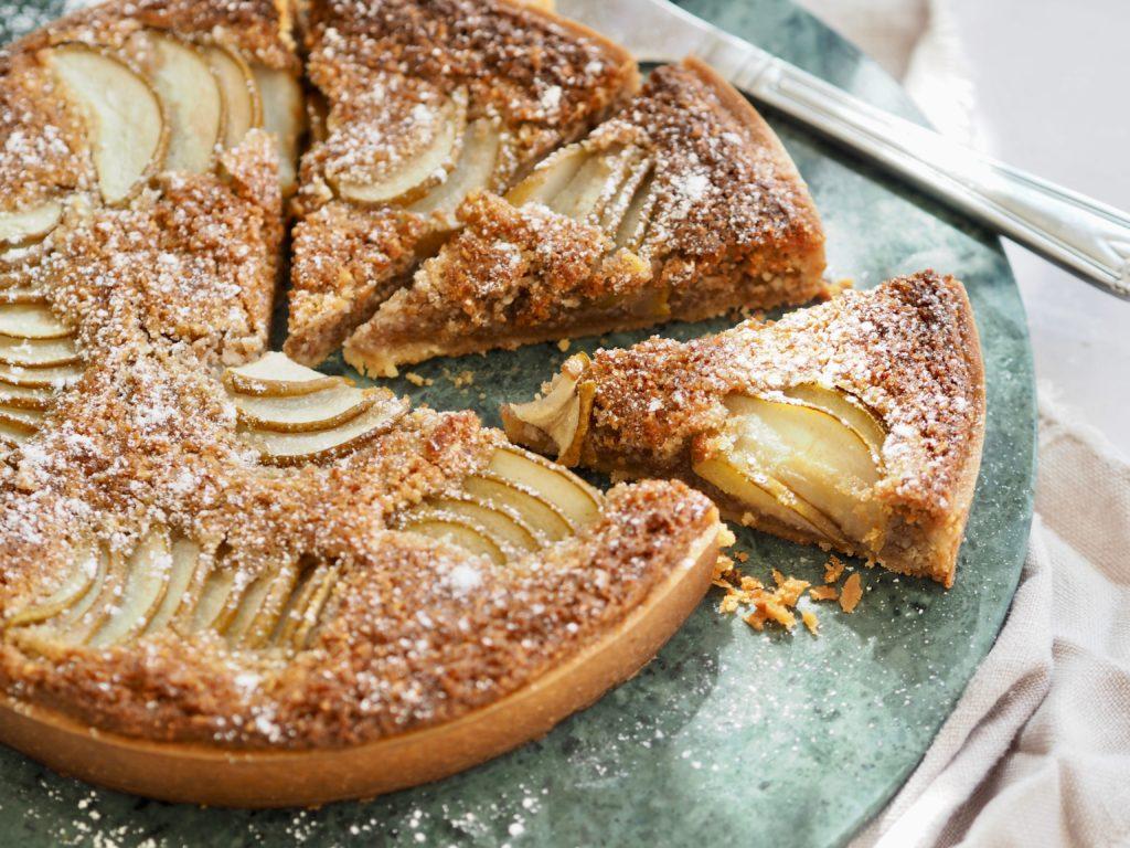 tærte med pærer