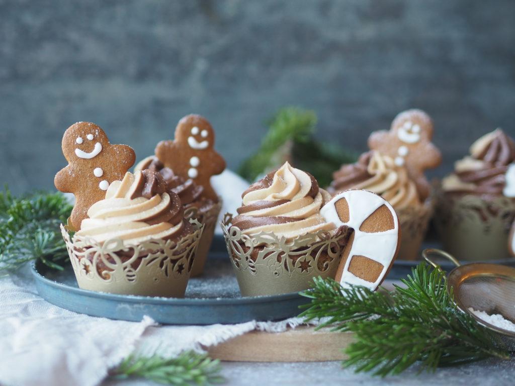 julecupcakes med karamelliseret smørcreme