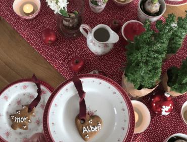 julebord med spiseligt julepynt