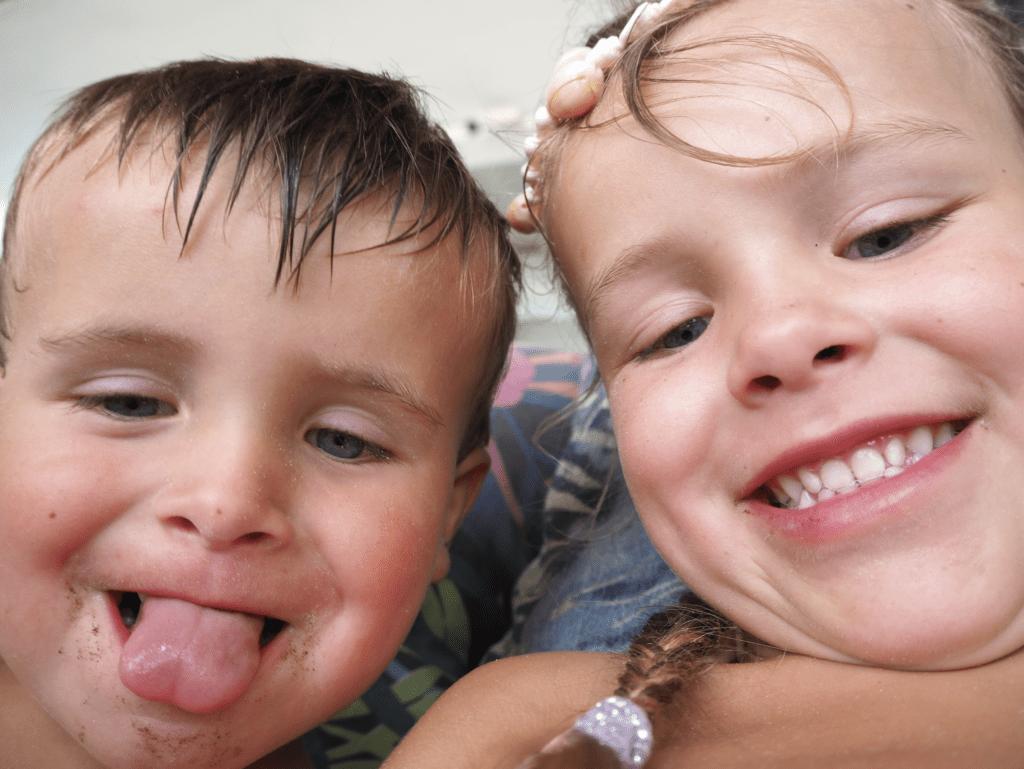 selfie af boern