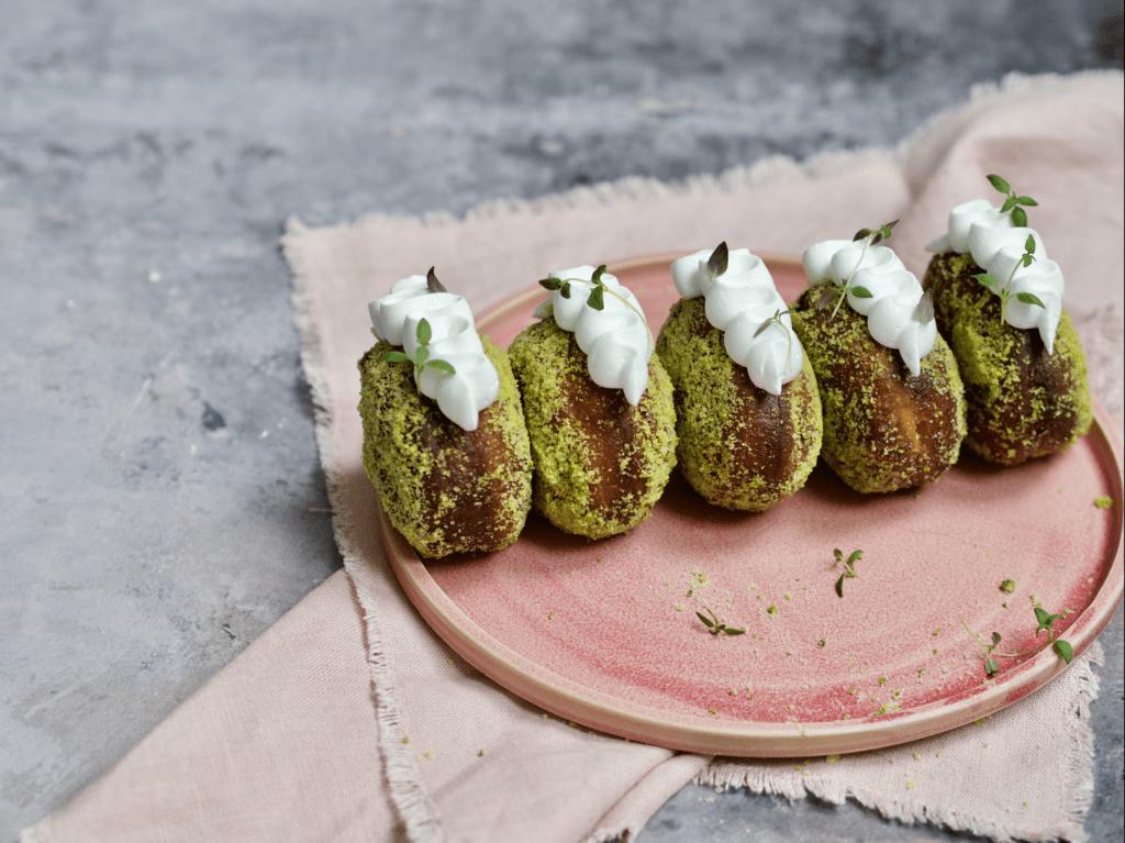 berliner donut marengs citron pistacie